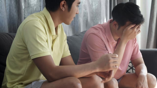A homosexual couple having difficulties in relationship.Stressful Moments.LGBT concept. video