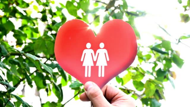 Homosexual People Icon on Heart Shape