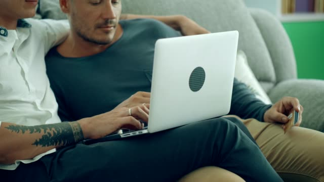 Homosexual shopping online at home
