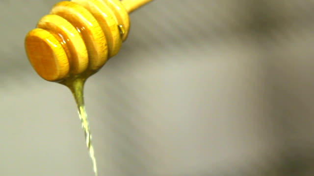 Honey dripping from a spoon video
