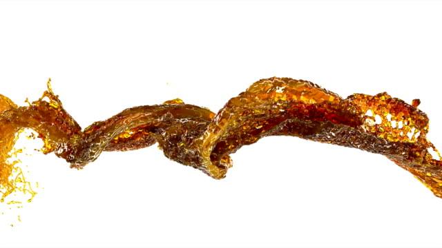 Honey stream 3d swirl gel 4k Honey stream 3d swirl gel 4k changing form stock videos & royalty-free footage