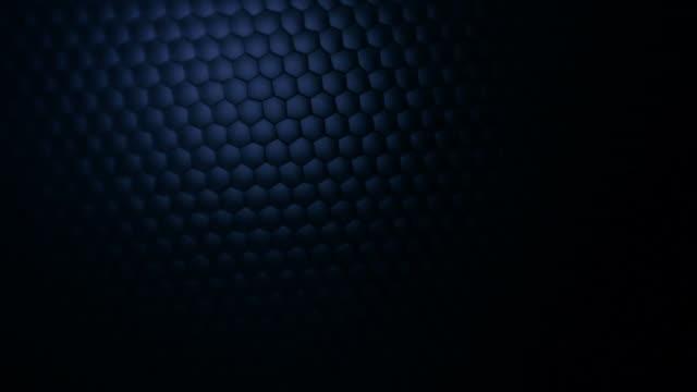 Honeycomb grid mesh background, light show video