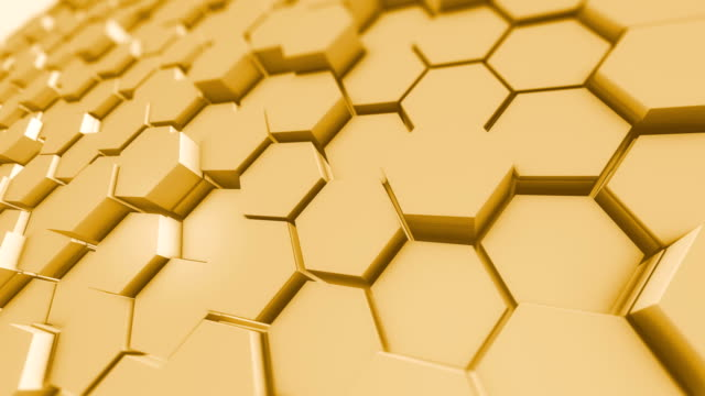 Honeycomb Pattern Abstract Backgrounds Hexagon Shapes 4K Loopable