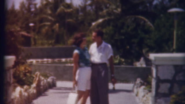 honeymon in paradise 1950's - wedding fashion stock videos and b-roll footage