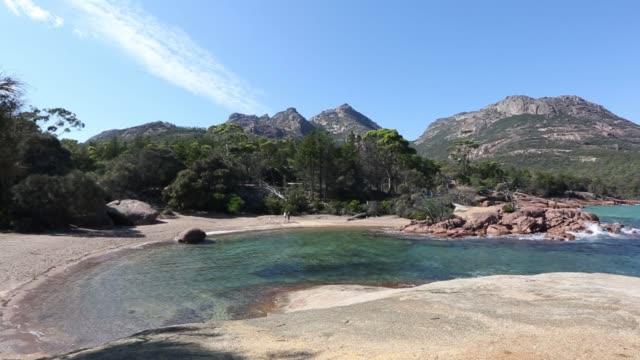 honeymoon bay tasmania - tap water стоковые видео и кадры b-roll