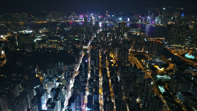 Hong Kong aerial view from Kowloon side video