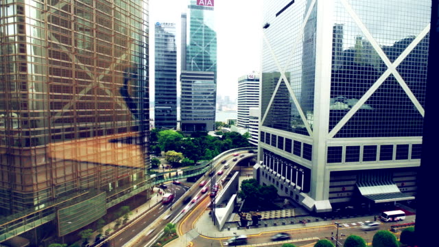 TIME LAPSE - Hong Kong Bank Central Traffic video
