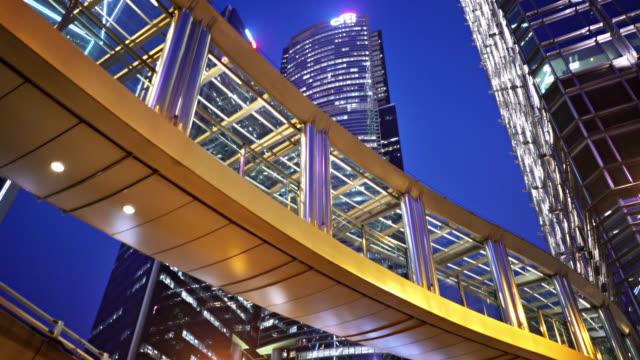 Hong Kong Business Downtown. brücke. Financail Gebäude. hotel – Video