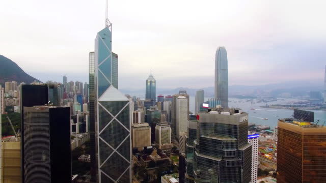 stockvideo's en b-roll-footage met hong kong door drone - hongkong