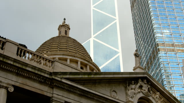 hong kong central buildings - центральный район стоковые видео и кадры b-roll