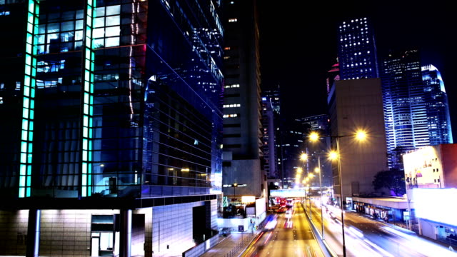 Hong Kong City Night Timelapse. video