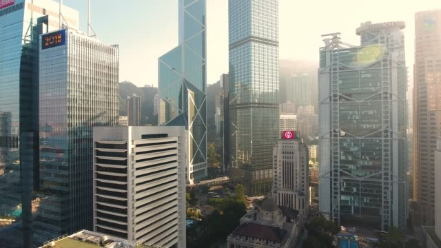 hong kong city  - turm bauwerk stock-videos und b-roll-filmmaterial