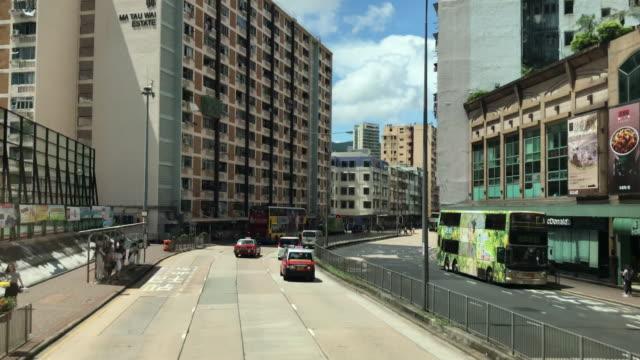 hong kong cityscape - ma tau wai estate east kowloon - osiedle mieszkaniowe filmów i materiałów b-roll