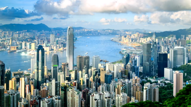 stockvideo's en b-roll-footage met hong kong cityscape - hongkong