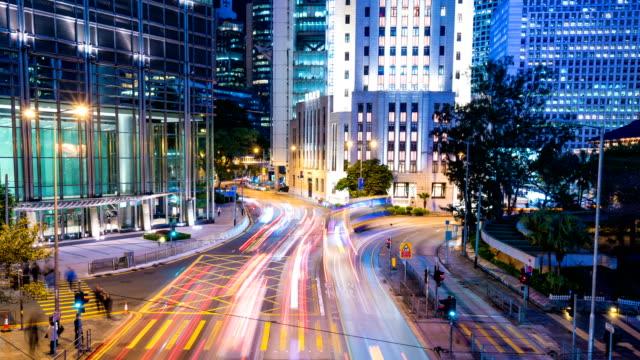 4k tl hong kong cityscape. - hong kong video stock e b–roll