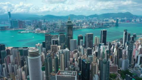 vidéos et rushes de hyper lapse de hong kong - horizon urbain