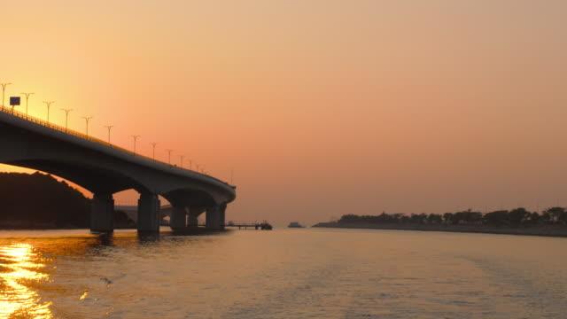香港 - 日没時のマカオ橋 ビデオ