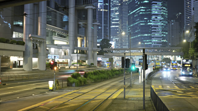 Hong Kong Night business downtwon