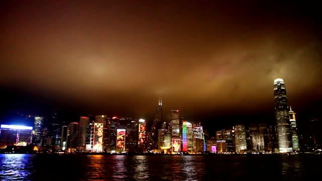 Hong Kong. Night Cityscape. video