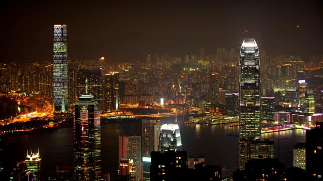 Hong Kong night. video