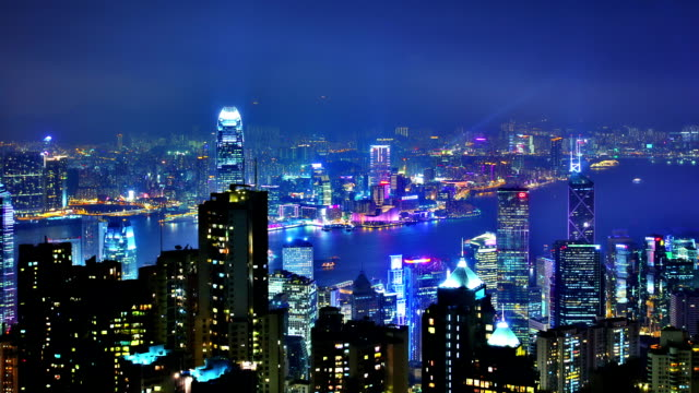 stockvideo's en b-roll-footage met hong kong night - hongkong