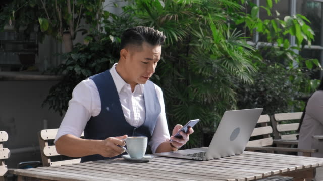 Hong Kong Office Workers Taking a Break on Building Terrace video