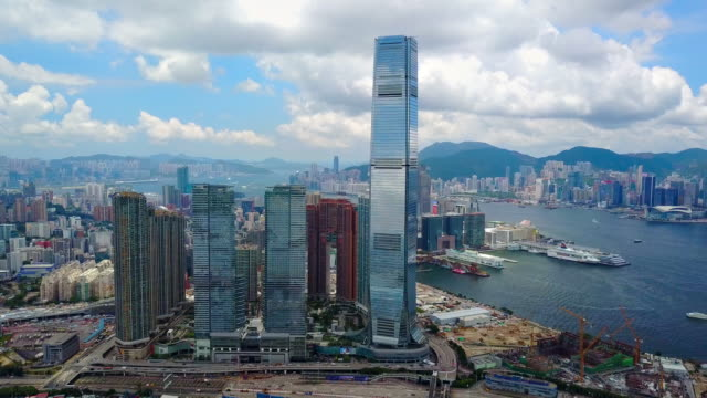 九龍地区から香港の空のスクレーパー - 香港点の映像素材/bロール