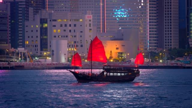 hong kong skyline. hong kong, china - hong kong video stock e b–roll
