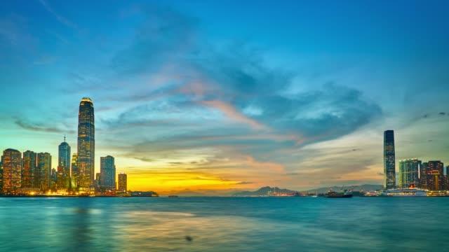 Sonnenuntergang in hong kong – Video