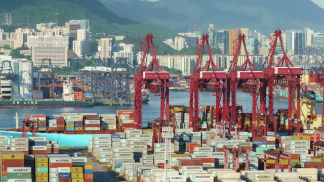 Hong Kong Time lapse of Cargo Terminal. Hong Kong Time lapse of Cargo Terminal. commercial dock stock videos & royalty-free footage