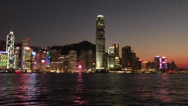 Hong Kong Victoria harbour at Dusk