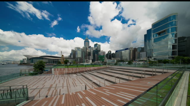 Hong Kong,Admiralty Downtown,Cloud and blue sky. video