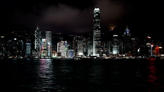 Hongkong Skyline at night video