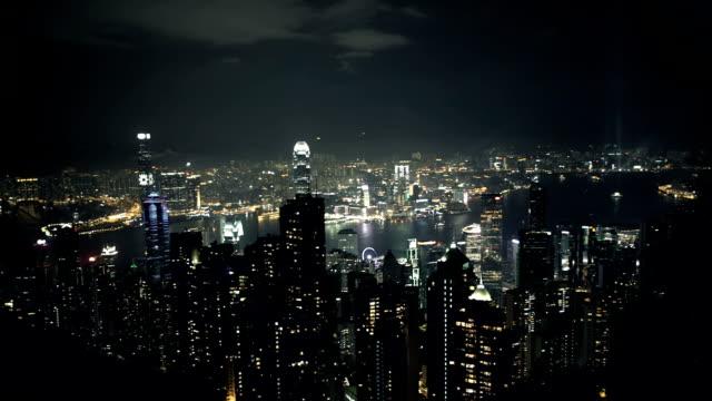 Hongkong Skyline at night with Laser Show video