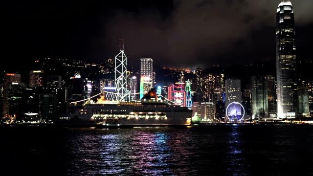 Hongkong Skyline with cruiser ship video
