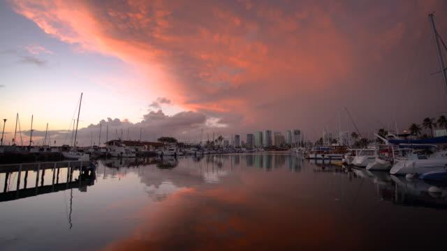 Honolulu skyline at sunset / Honolulu, HI, USA
