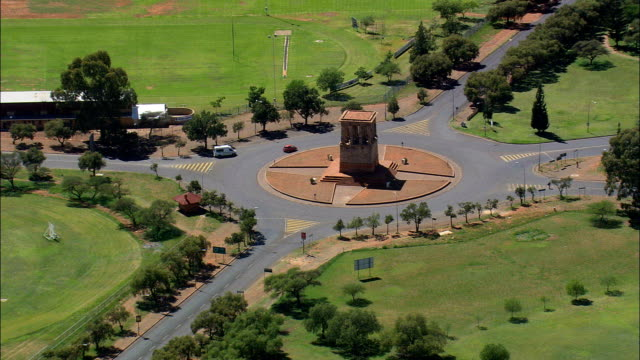 Honoured Dead Memorial  - Aerial View - Northern Cape,  Frances Baard District Municipality,  Sol Plaatjie,  South Africa video