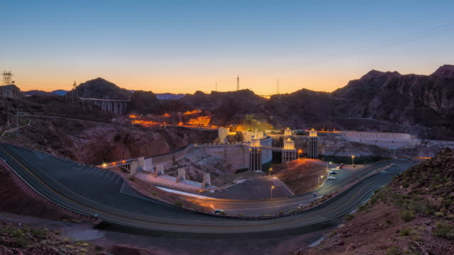 Hoover Dam time lapse on the Colorado River