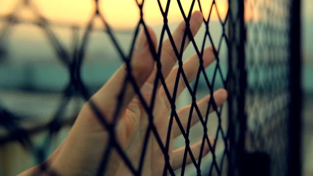 hoping freedom life - prigione video stock e b–roll