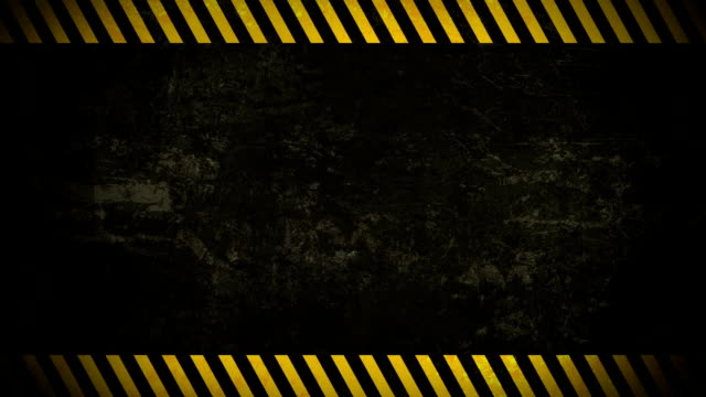Horizontal Caution Wall Background Loop