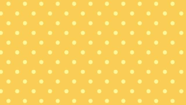 horizontal movement of orange dot pattern - pop art video stock e b–roll