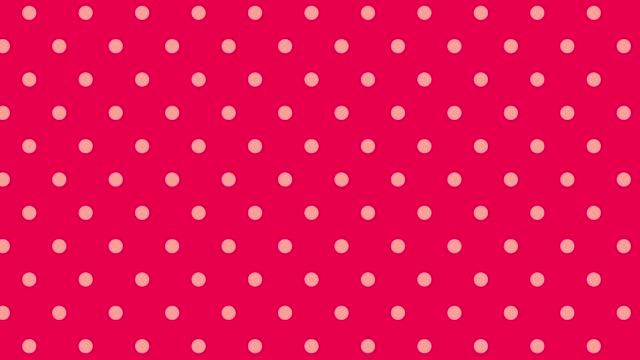 horizontal movement of red dot pattern - pop art video stock e b–roll