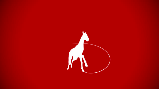 horse gallop on red background - horse racing 個影片檔及 b 捲影像