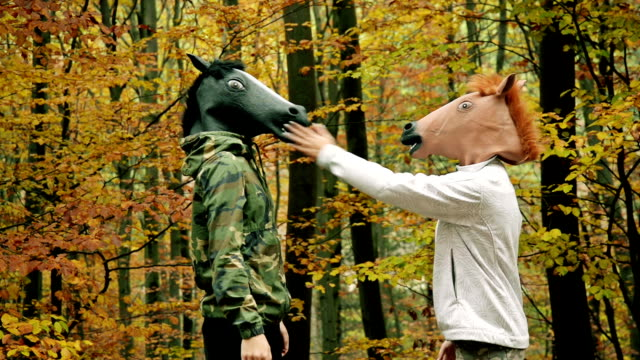 Horse head mask video