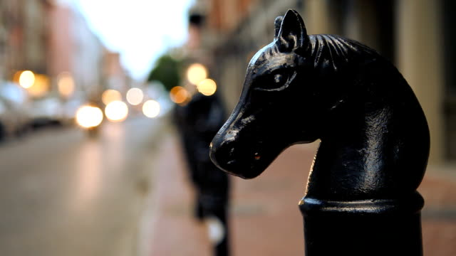 Horse Head Statuettes Along Downtown New Orleans Street video