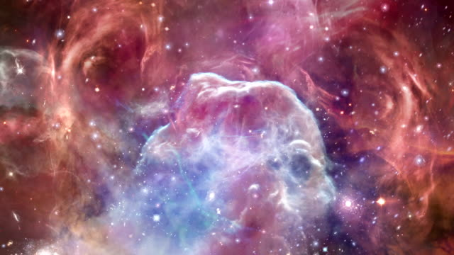 Horsehead Nebula Colorful flight through Horse-head nebulas in space. Created using NASA imagery. nebula stock videos & royalty-free footage