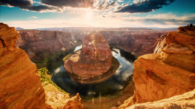 T/L 8K Horseshoe Bend at sunset video