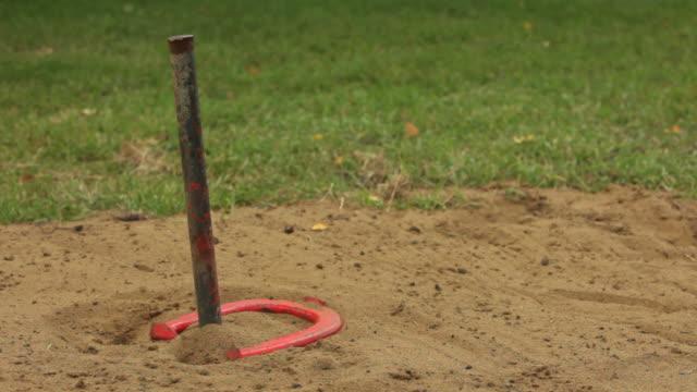 horseshoes hd - horseshoe stock videos & royalty-free footage