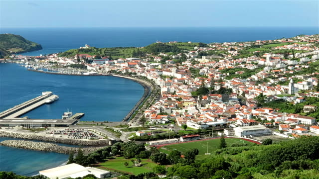 Horta and Horta Bay, Faial Island - Azores video