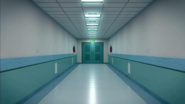 病院の廊下、開放、アニメーションをループ - 廊下点の映像素材/bロール